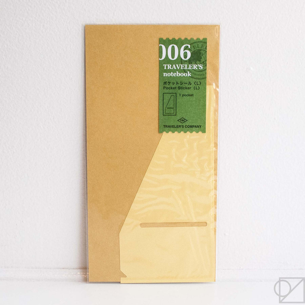 Midori Traveler's Note: 006 File Pocket Sticker