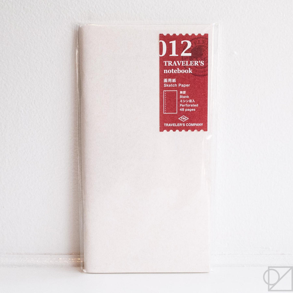 Midori Traveler's Note: 012 Sketch Paper Notebook Refill
