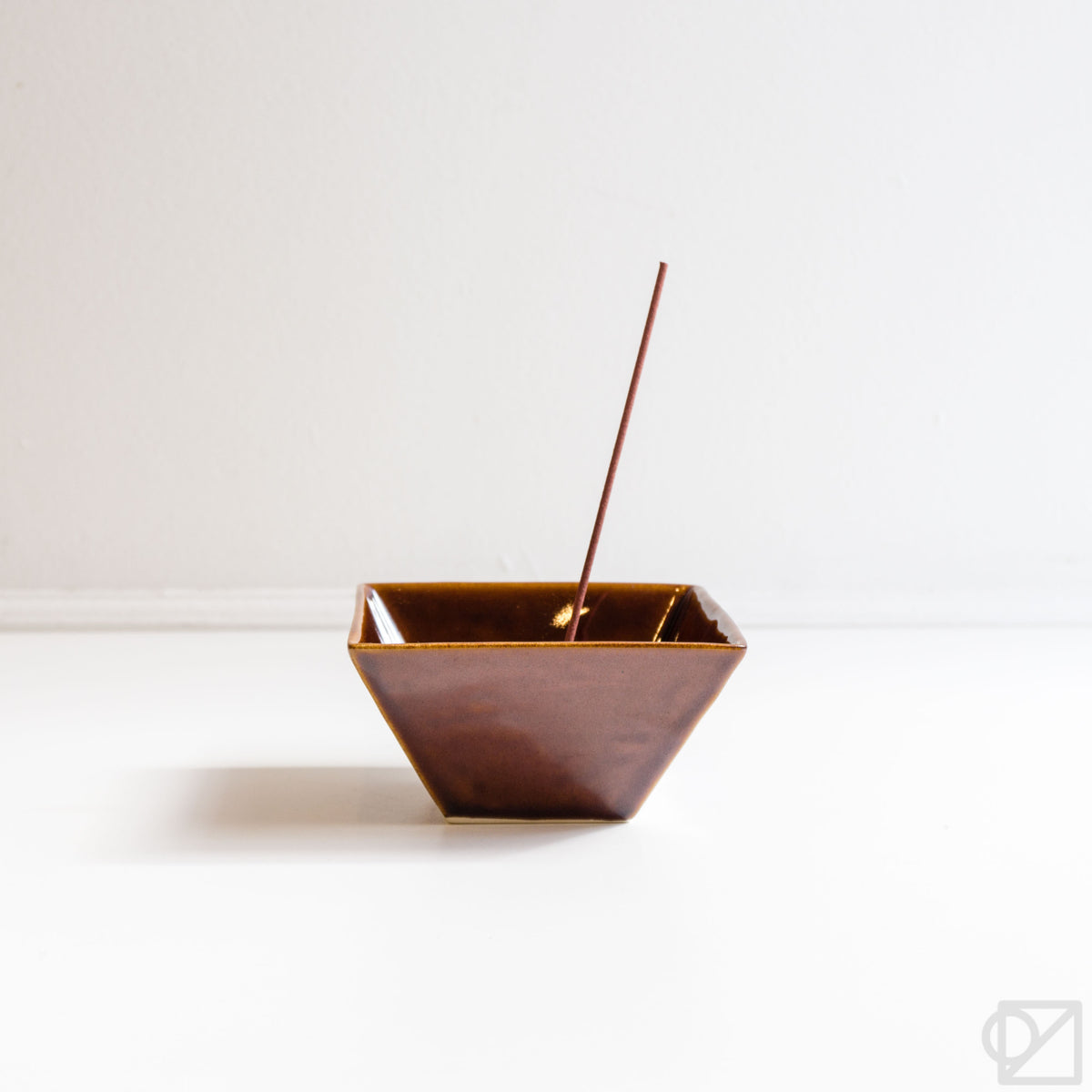 Yukari Bowl Incense Burner Brown