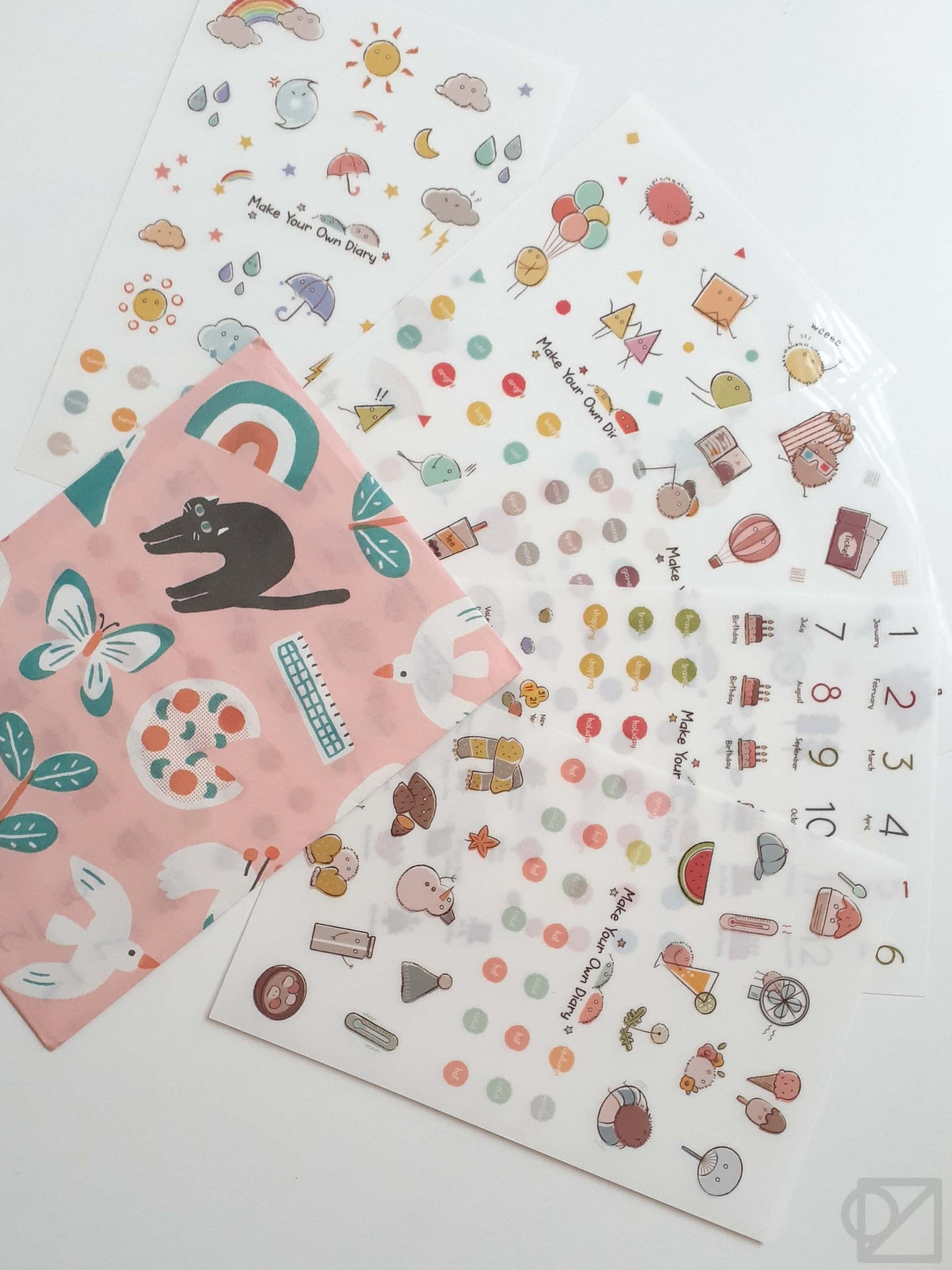 Illustrated Diary Stickers