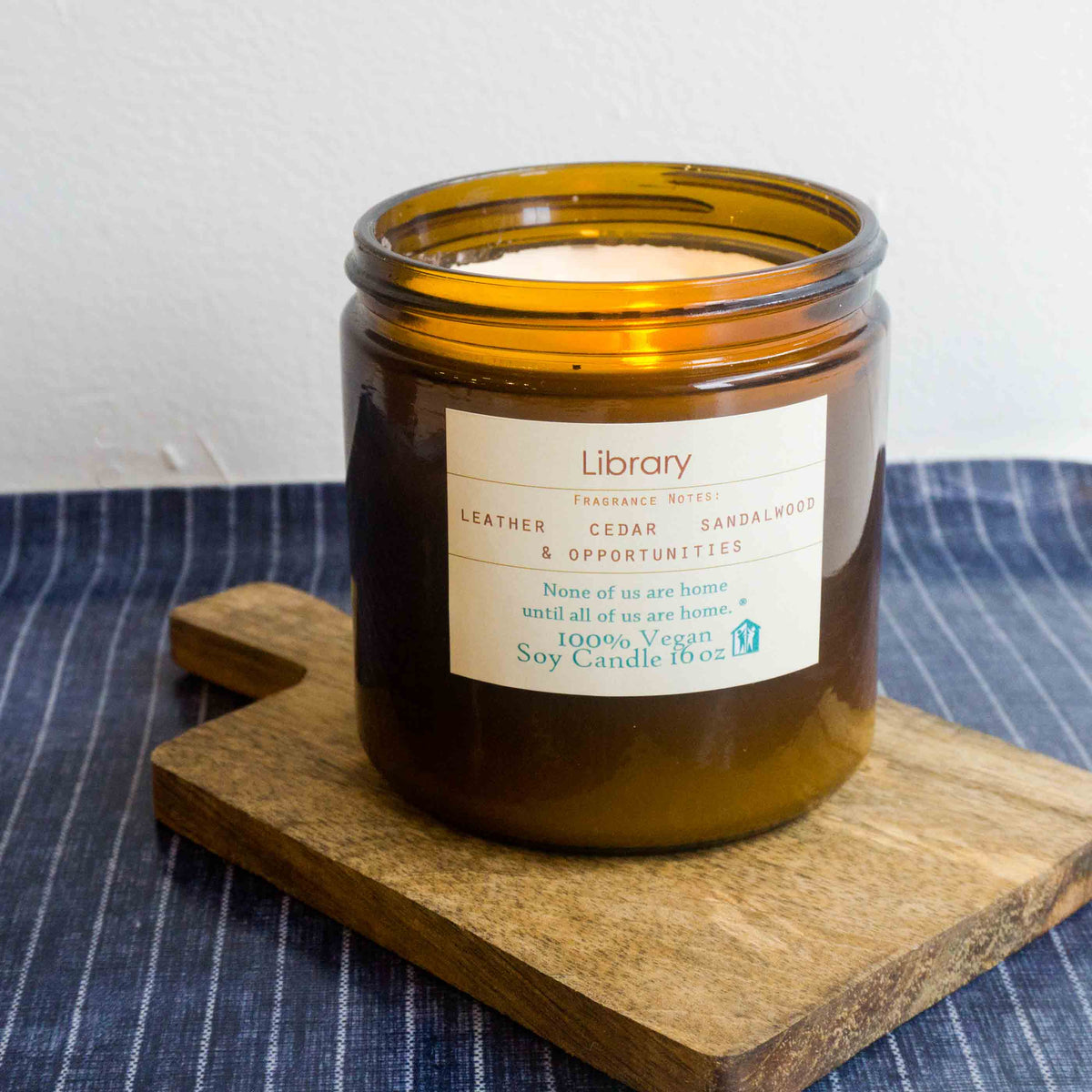 Project HOME Library Candle