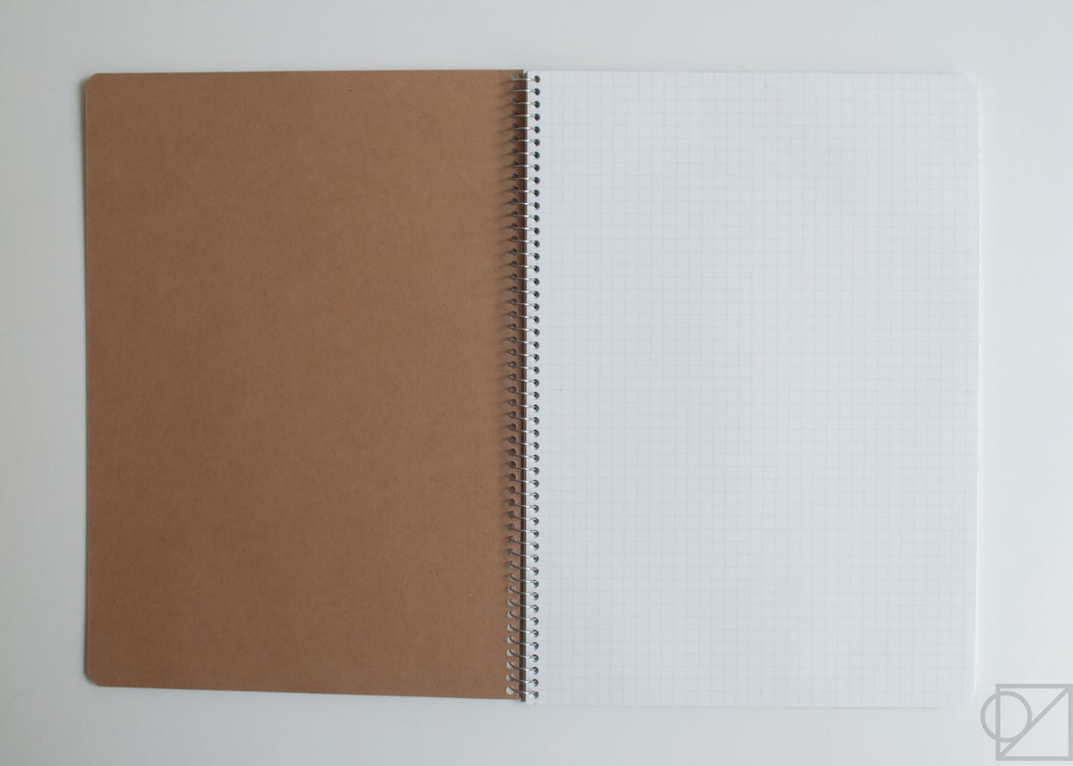 Basic Spiral Ring Notebook 5mm Grid first page