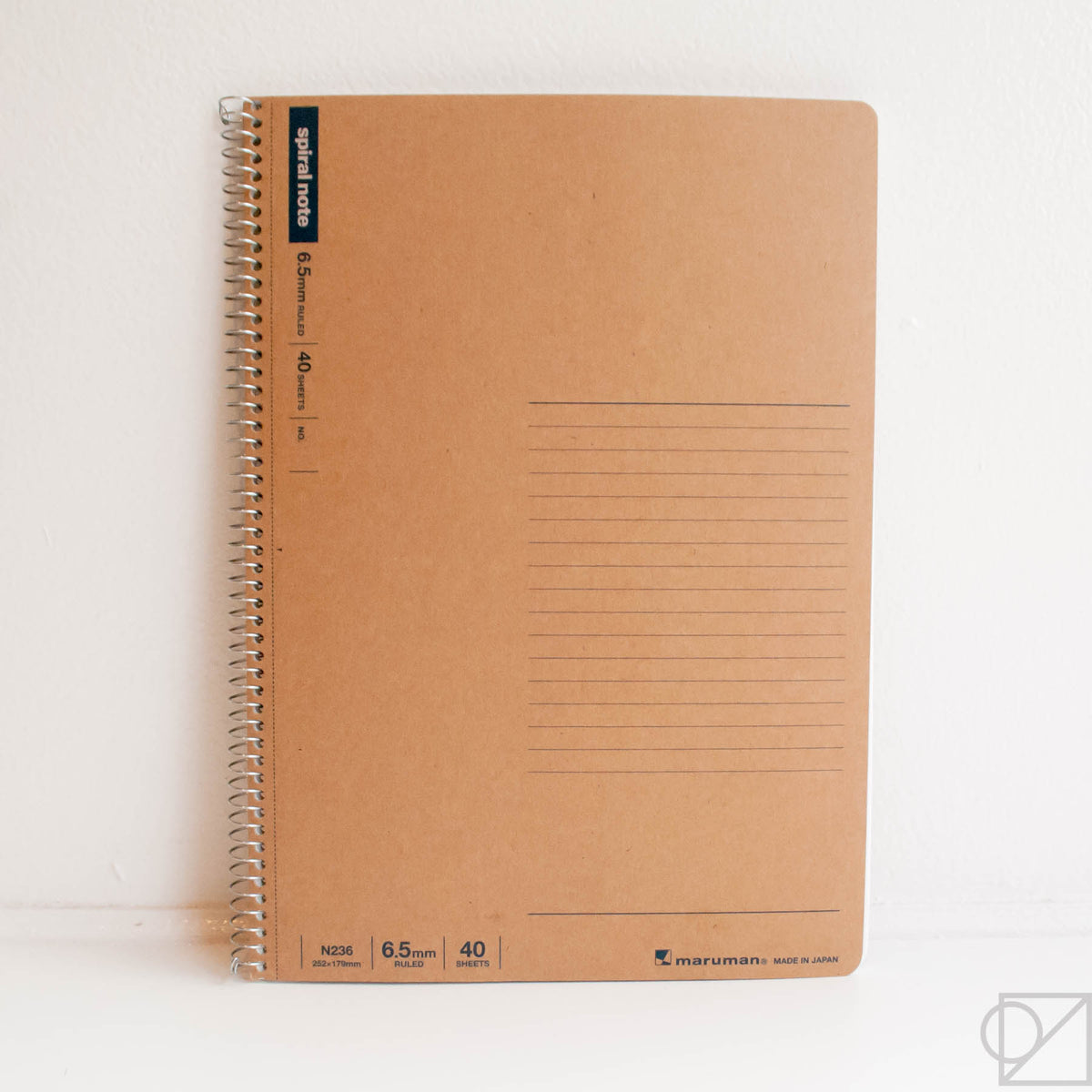Basic Spiral Ring Notebook 6.5mm College Line Rule