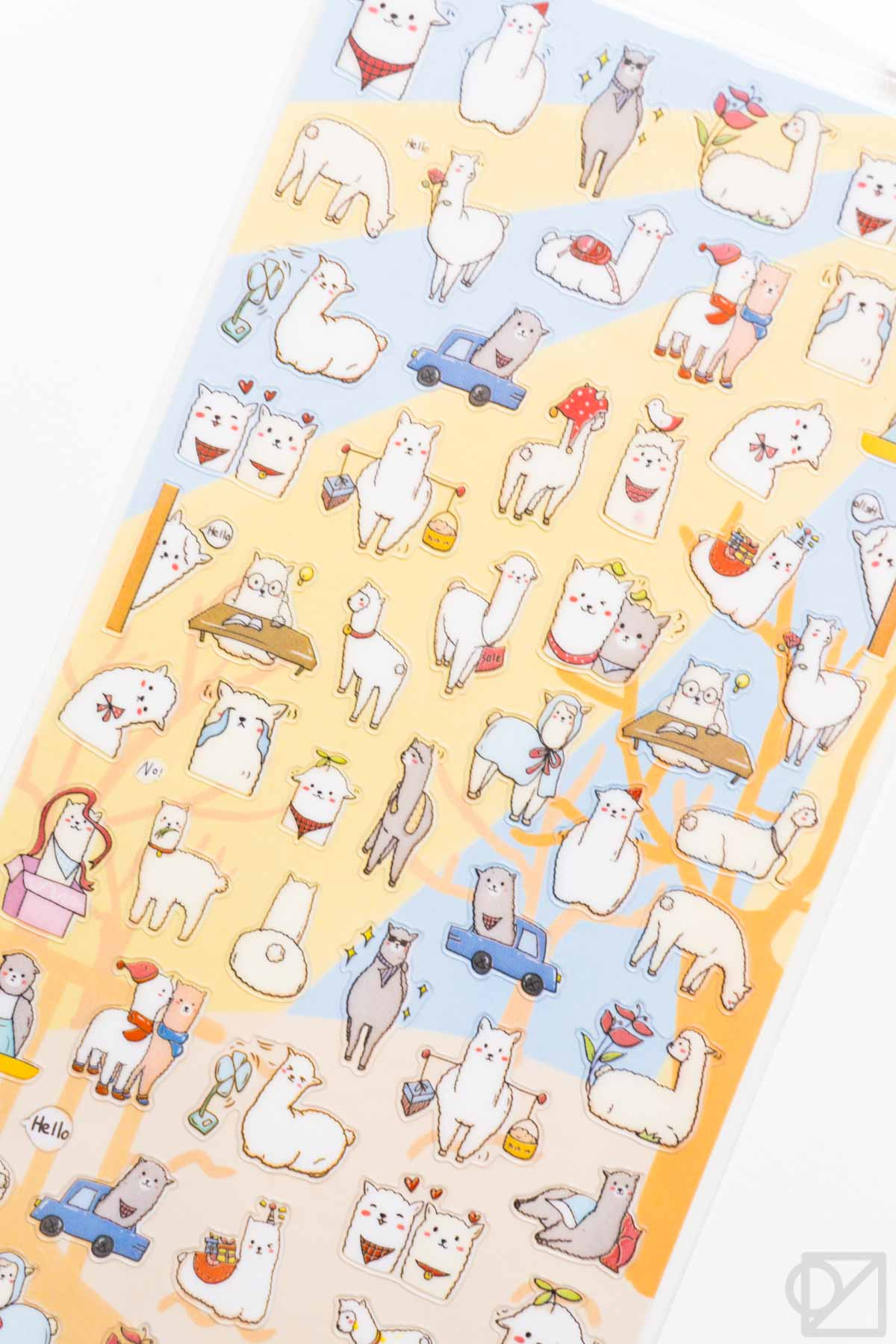 Nekoni Alpaca Stickers