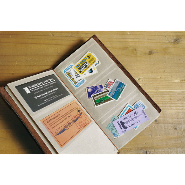 Use the pocket stickers for storing business cards, loose memos and travel ephemera, even small photographs.
