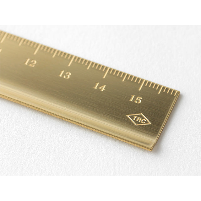 TRAVELER'S Company Brass Metric Ruler