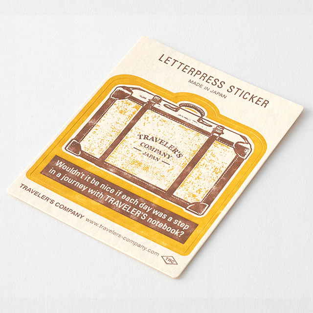 TRAVELER'S Company Travel Tools Letterpress Stickers