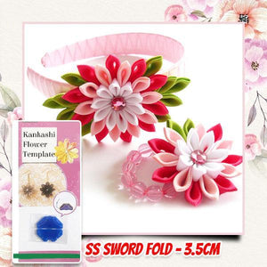 DIY Kanzashi Flower Template