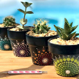 Flower Pot Mandala Dotting Set