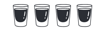 Illustration of full shot glasses