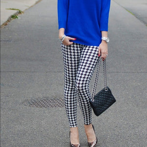 Houndstooth Print Leggings - Shop Evelyne