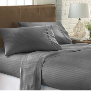 1800 Count Fiber Super Soft Dolby Striped Sheets - Shop Evelyne