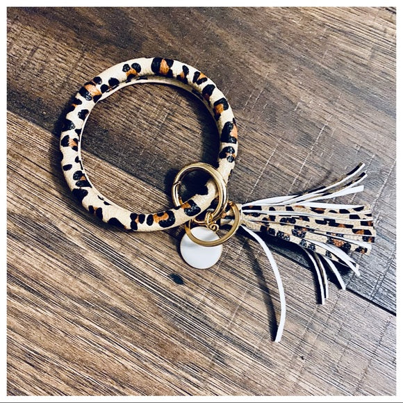 Tassel Bracelet Print Key Ring - Shop Evelyne