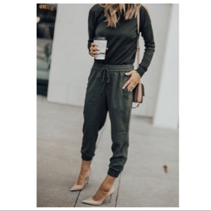 COZY CHIC OLIVE SIDE POCKETS JOGGERS - Shop Evelyne