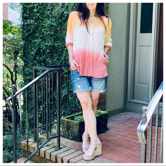 OMBRÉ TIE DYE CHIC TUNIC TOP - Shop Evelyne