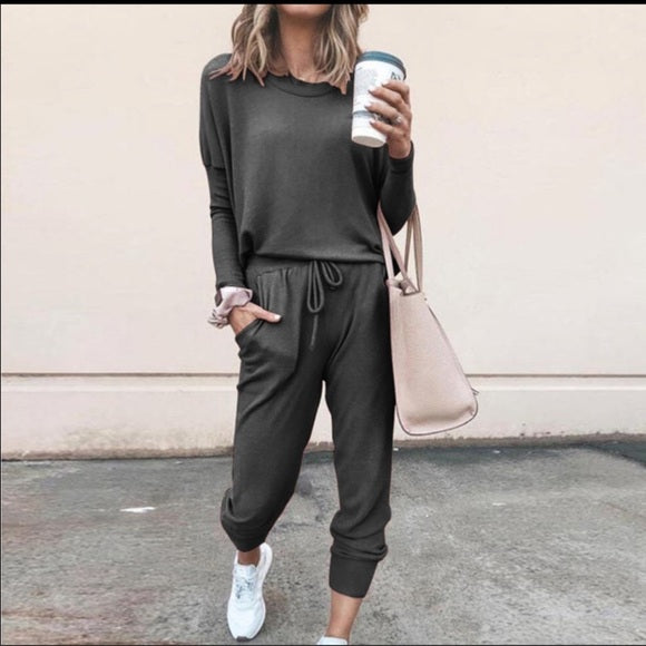 Comfy Cozy 2 piece cotton blend jogger set