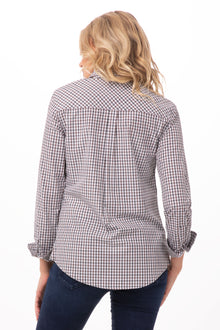 Modern Gingham Long Sleeve Women's Dress Shirt