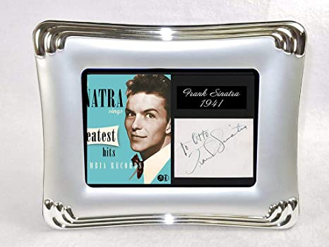 Elegant Autographs: Frank Sinatra autograph with display, includes frame.