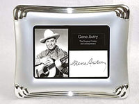 Elegant Autographs: Gene Autry autograph with display, includes frame.