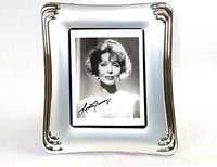 "Elegant Autographs: Loretta Young 5x7"" autograph, includes silver coated frame."