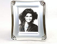"Elegant Autographs: Sally Field 5x7"" autograph, includes silver coated frame."