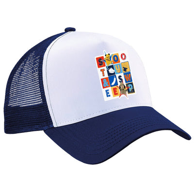Sooty and Sweep Block Trucker Cap