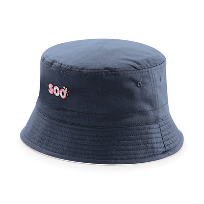 Sooty Soo Floral Text Reversible Bucket Hat-Sooty's Shop