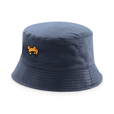 Sooty Classic Text Logo Reversible Bucket Hat-Sooty's Shop