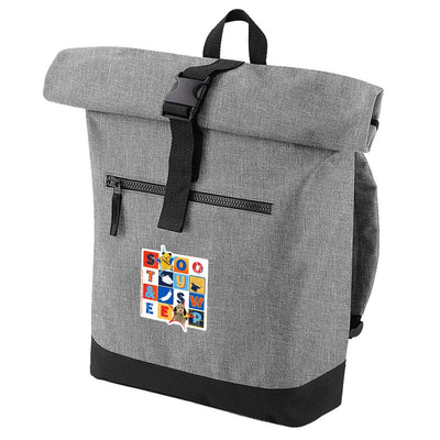 Sooty and Sweep Block Roll Top Backpack