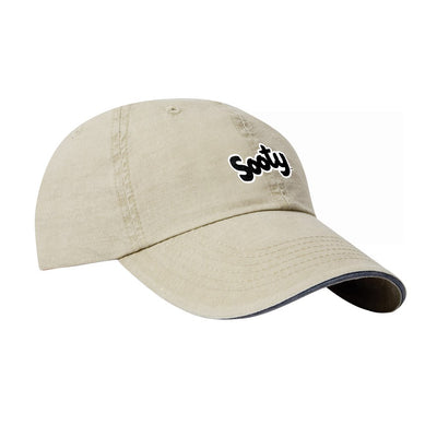 Sooty Black Text Logo Soft Cotton Cap