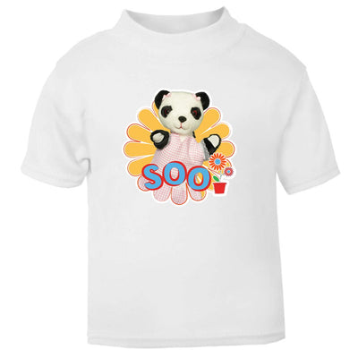 Sooty Soo Retro Flower Baby T-Shirt-Sooty's Shop