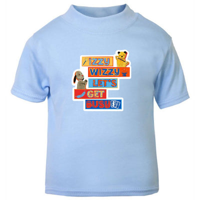Sooty Izzy Wizzy Let's Get Busy Stacked Baby T-Shirt-Sooty's Shop