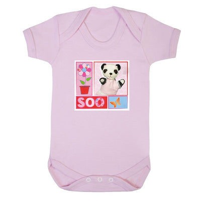Sooty Soo Retro Floral Short Sleeve Baby Grow-Sooty's Shop