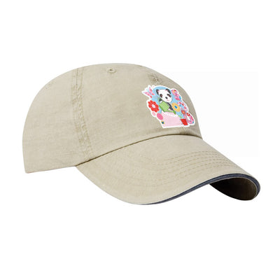 Sooty Soo Floral Text Soft Cotton Cap