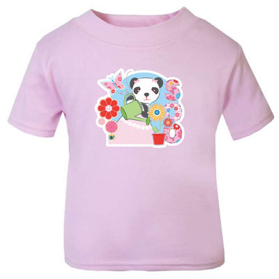 Sooty Soo Watering Flowers Baby T-Shirt-Sooty's Shop