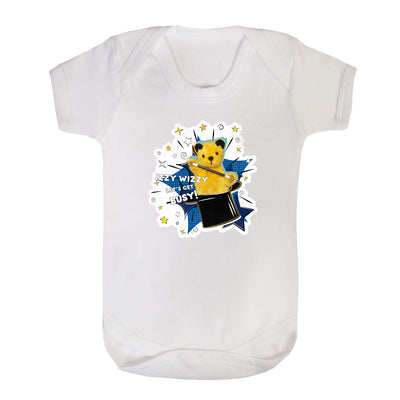 Sooty Izzy Wizzy Magic Hat Short Sleeve Baby Grow-Sooty's Shop
