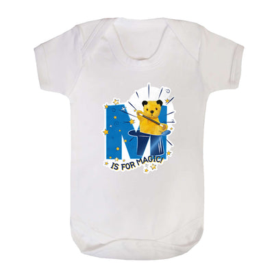 Sooty M Is For Magic Short Sleeve Baby Grow-Sooty's Shop