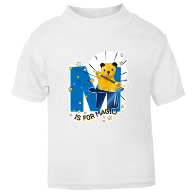 Sooty M Is For Magic Baby T-Shirt-Sooty's Shop