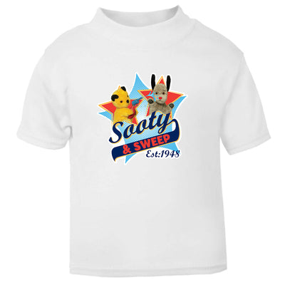 Sooty And sweep Established 1948 Baby T-Shirt-Sooty's Shop
