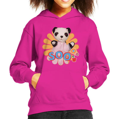 Sooty Soo Flowers Kid's Hooded Sweatshirt-Sooty's Shop