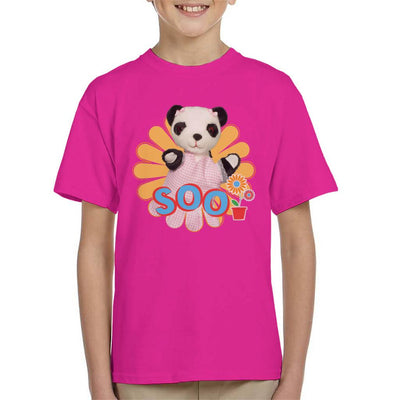 Sooty Soo Flowers Kid's T-Shirt-Sooty's Shop