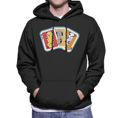 Sooty Playing Card Trio Men's Hooded Sweatshirt-Sooty's Shop