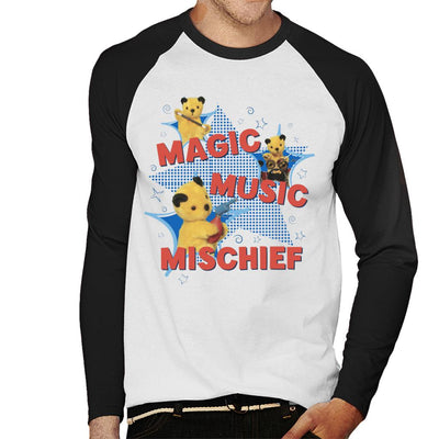 Sooty Magic Music Mischief Men's Baseball Long Sleeved T-Shirt-Sooty's Shop