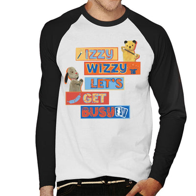 Sooty Izzy Wizzy Let's Get Busy Men's Baseball Long Sleeved T-Shirt-Sooty's Shop