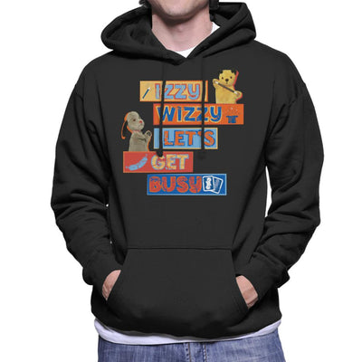 Sooty Izzy Wizzy Let's Get Busy Men's Hooded Sweatshirt-Sooty's Shop