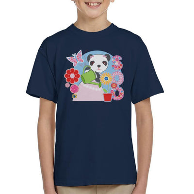 Sooty Soo Watering Flowers Kid's T-Shirt-Sooty's Shop