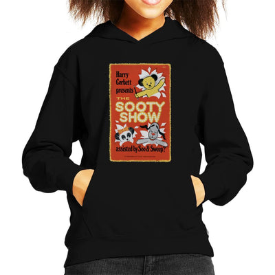 Sooty Show Retro Poster Kid's Hooded Sweatshirt-Sooty's Shop
