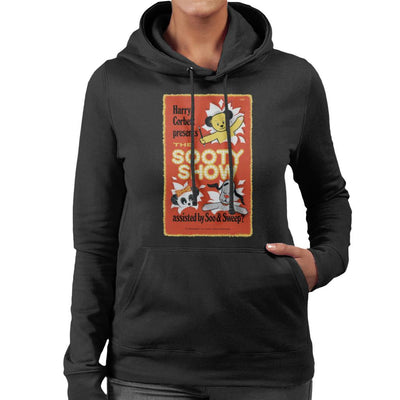 Sooty Show Retro Poster Women's Hooded Sweatshirt-Sooty's Shop