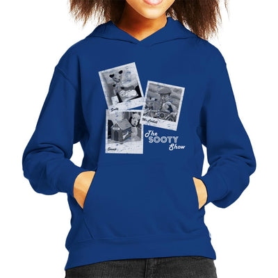 Sooty Retro 1950's Photo Montage Kid's Hooded Sweatshirt-Sooty's Shop