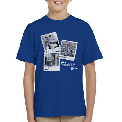 Sooty Retro 1950's Photo Montage Kid's T-Shirt-Sooty's Shop